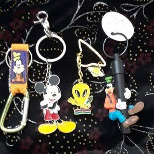 Disney.   Key.  Chain. Or. Purse pull